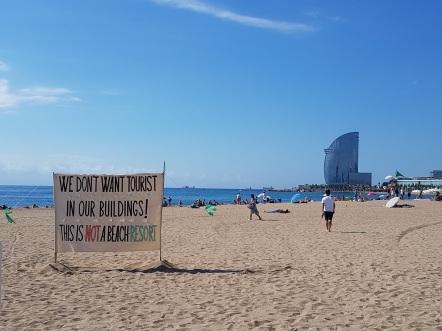 Barceloneta demonstration bearch1
