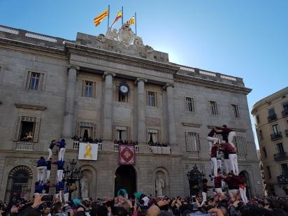 castells castellers plazadesantjaume barcelona ayearinbarcelona