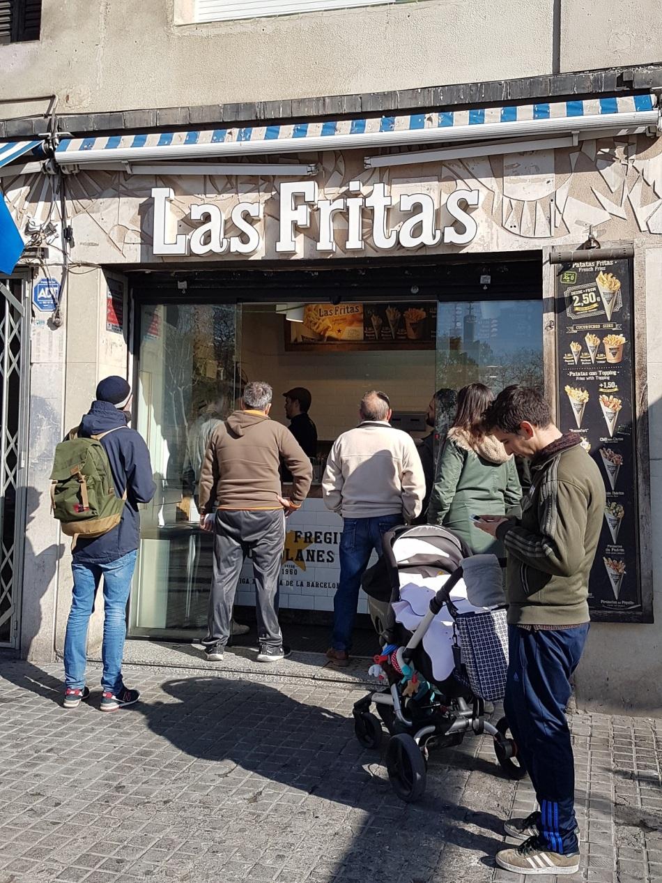 Las fritas Barceloneta Born Tip ayearinbarcelona